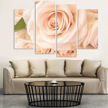 2017 4 Piece Cheap Abstract Modern Wall Painting Flower Canvas Home Decorative Art Picture Paint Unframed