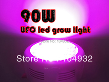 90W LED Grow Light good lights Wholesale 5pcs  10 Spectrums IR Indoor Hydroponic Plant 30*3W 10 BAND plant light   UFO LED light