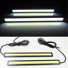 JETTING Waterproof 2Pcs/Set 12V LED COB DIY Ultra Bright Car Auto DRL Driving Daytime Running Lamp Fog Light White Black