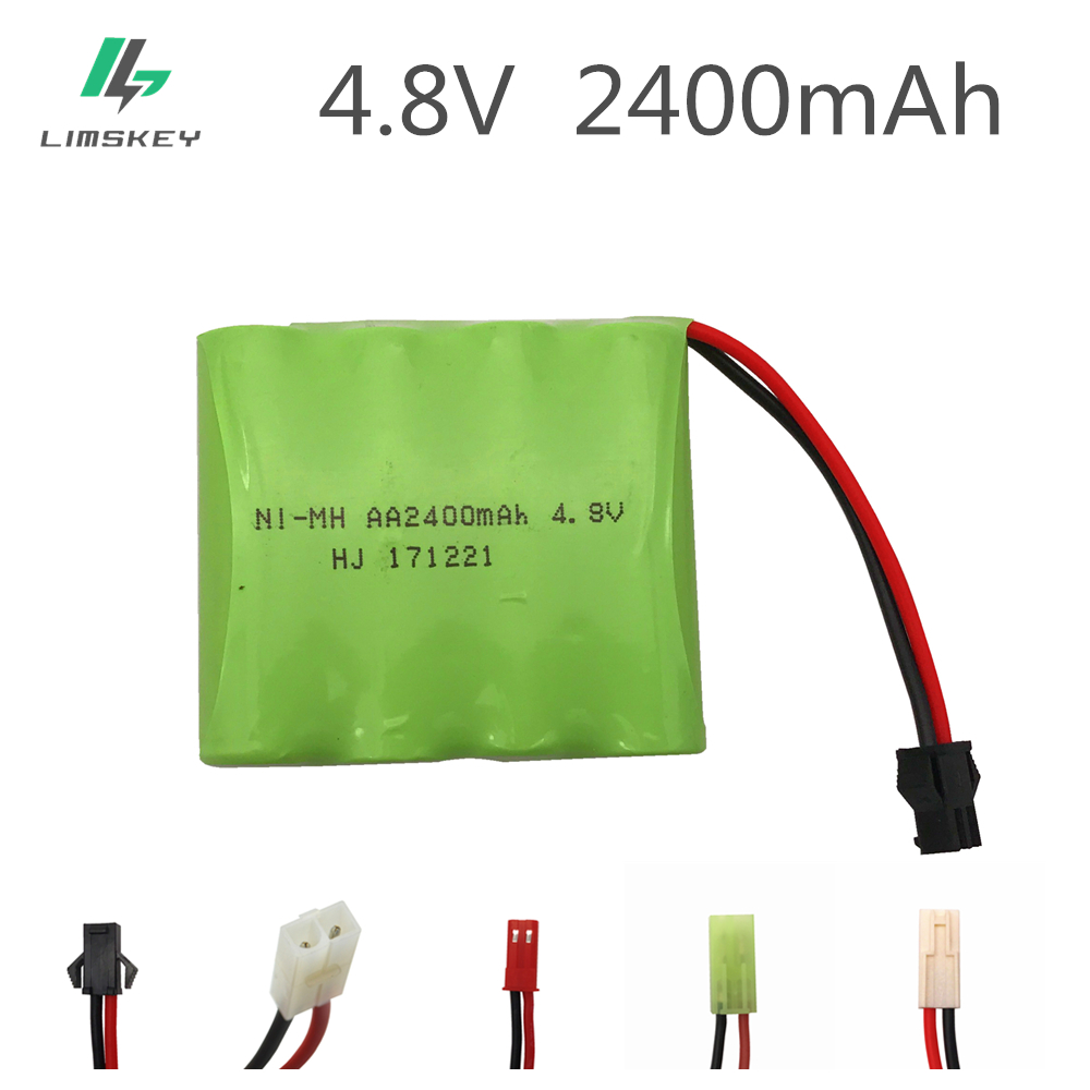 Limskey 4.8V 2400mAh Ni-MH battery group RC toy electric lighting lighting security facilities AA 4.8 V 2400 battery For RC TOYS(China)