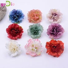 20PCS 4.5cm Collage artificial carnation flower head wedding party decoration DIY artificial z flower wreath gift(China)