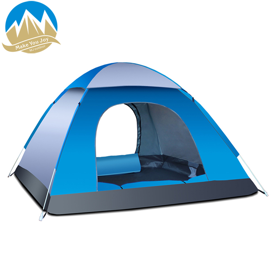 MYJ 3-4 Person Outdoor Sleeping Windbreak Camping Tent Foldable Pop Up Open Anti UV Tourist Tents For Outdoor Sport Hiking title=
