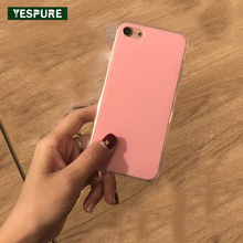 YESPURE Wholesale Acrylic+TPU Cheap Cheap Cell Phone Covers for IPhone 7 White Soft Phone Accessories Mobile Girls Fancy Cover