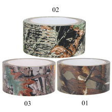 10m Waterproof Dead Leaves Camo Duct Tape Gun Hunting Outdoor Camping Camouflage Stealth Tape Wrap Hunting Gun Accessories New