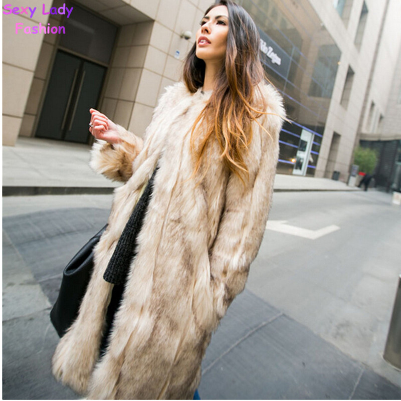 Extra Long Faux Fur Coat Promotion-Shop for Promotional Extra Long ...