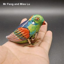 Vintage Wind-Up Bird Pecking Tin Mechanical Toy Children Gift For Kids(China)