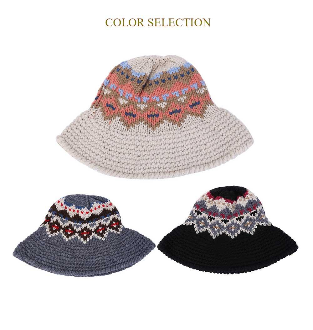 Compre Envío Gratis Invierno Sombrero Mujeres Vintage Retro Jacquard ...