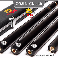 O'MIN Snooker Cue, Model Classic,High Level, 145cm Length, Cue Tip 10mm, 3/4 Jointed cues, Handmade Billiard Stick,Free Shipping