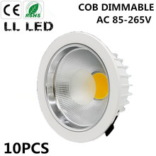 10X  5W 7W 10W 12W 15W 20W 30W 40W 50W 60W  COB downlight Dimmable Recessed LED Ceiling Lamp Spot Light White/warm led lamp cree