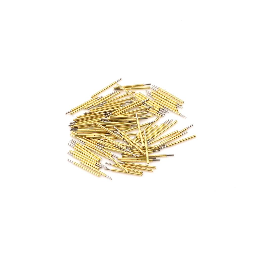 100PCS P75-B1 Dia 1.02mm 100g Cusp Spear Spring Loaded Test Probes Pogo Pins MA