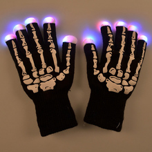 Event & Party Supplies Funny Gift 7 Mode LED Gloves Rave Light Finger Lighting Glow Flashing Gloves party Dropshipping 1pair