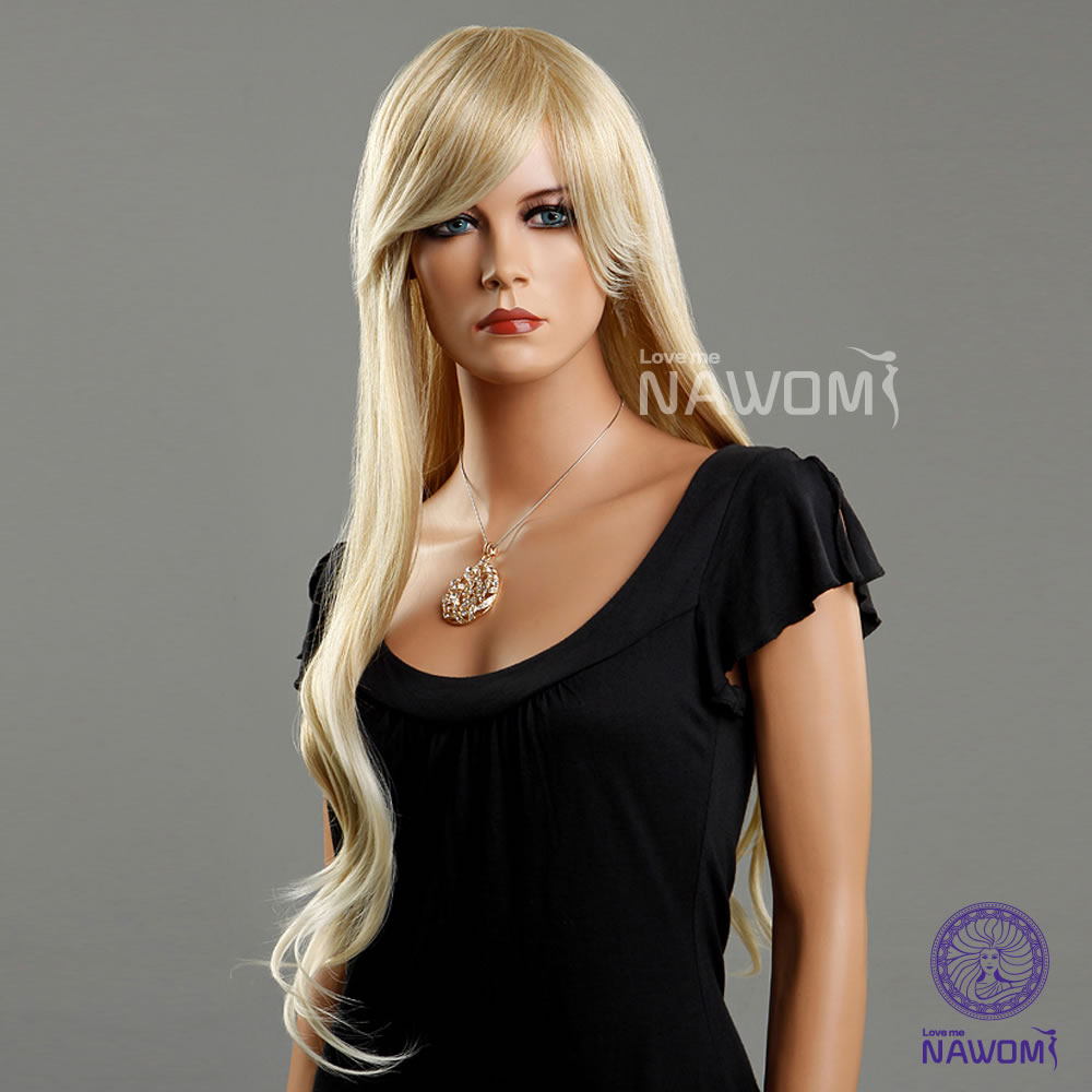 Blonde hair wigs for women/ long wigs synthtic 100% Kanekalon wigs online real looking hair wigs<br><br>Aliexpress