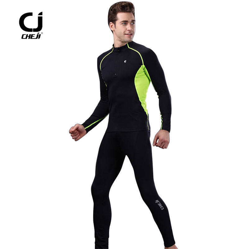 CHEJI2017 Underwear Set Thermal Fleece Cycling Base Layer Breathable Windproof MTB Bike Base Layer Cycling Underwear<br>