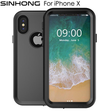 IP68 10m Deep Waterproof Case For Apple iPhone X iPhoneX Cover Hard Shockproof 360 Full Body Protect Fundas For Diving Swimming(China)