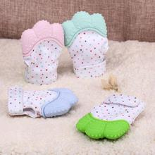 New Arrvial Silicone Baby Mitt Teething Mitten Teething Glove Candy Wrapper Sound Teether(China)