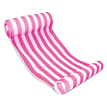 New Premium Swimming Pool Floating Water Hammock Lounge Chair (Rose red)(China)