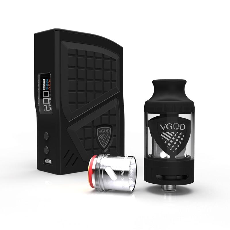 New Arrival VGOD Pro 200w Box Mod Kit TC Vaporizer Mod 4ml VGOD Sub ohm tank Atomizer Electronic Cigarettes 0.2ohm Coil Vape (1)