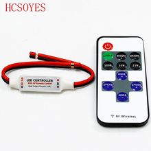 11 keys RF IR Wireless Remote rgb LED Controller Mini Dimmer For 5050/3528 Led rgb led strip Single Color LED Mini Dimmer(China)