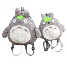My Neighbor Totoro Backpack Plush Bag Shoulder School Cartoon Stuffed Animal Backpack Totoro Children Mochila Escolar Infantil(China)