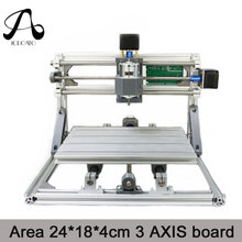 Free Shipping CROATO Wood Router Engraver 3Axis PCB PVC Milling machine CNC 2418 GRBL control Diy CNC machine