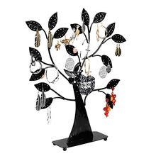 1PC New Black Earring Tree Bird Nest Fine Jewelry Display Stand Holders Also Fit Bracelets Necklaces For Women 43.5cmx37.5cmx8cm