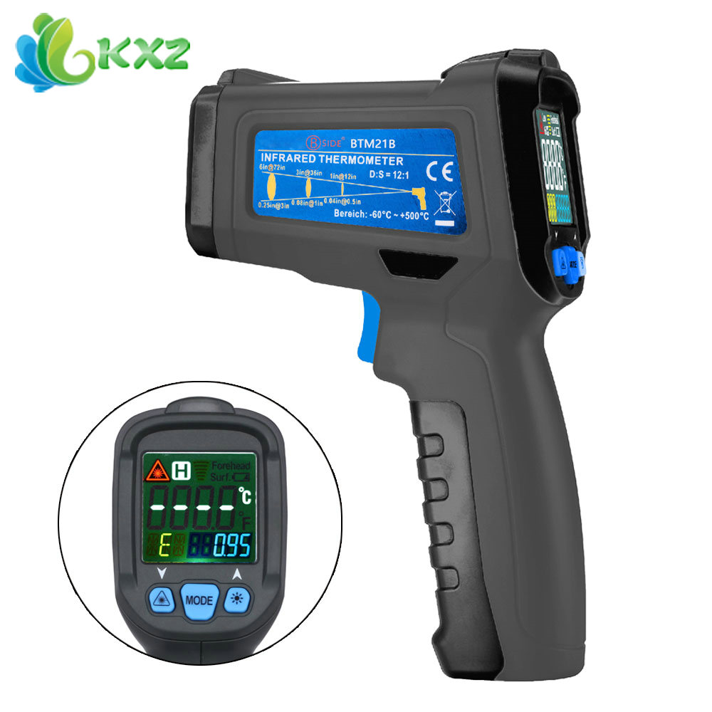 BSIDE BTM21B Non-contact Infrared Thermometer Color Liquid Crystal Display Digital K Type Thermometer<br><br>Aliexpress