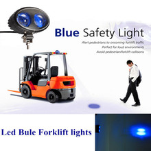 Forklift Safety Light 12V 10W LED off road blue Warning Safety Forklift Lights Led Spot Light For truck used car atv UTV 4x4(China)