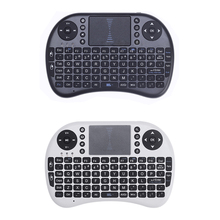 English Version i8 2.4G Mini Wireless Keyboard Gaming Air Fly Mouse Remote Control USB Touchpad For Android TV Box PC Laptop(China)