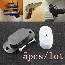 Gun Magnet Concealed Gun Holder Holster 25LB Rating Magnetic for Car Under Table Bedside Gun Accessories Free Shipping 5 pcs