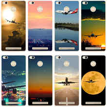 10GH Airplane Takeoff Flight Hard Transparent Cover Case for Xiaomi Redmi 3 3S 3Pro 4 Note 3 4 & Max Mi5(China)