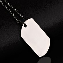 2017 New Listing! Stainless Steel Dog Tag Necklace Classical Fashion Men Necklace Jewelry High Polished Pendant Necklace