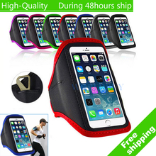 For iPhone 5G 5S 5C for iPod Touch 5 Adjustable Gym Jogging Running Skin Armband Case(China)