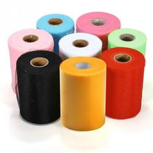 15cm*91.5metres 6 inches x 100 Yards Colorful Tissue Tulle Roll Spool Craft NEW 2017 For TULLE Roll Spool Wedding Party Decor