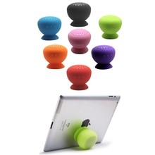 Mini Mushroom Wireless Bluetooth Speaker Waterproof Silicone Sucker Hands Free Speakers For Android Devices PC(China)