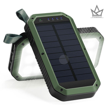 Solar Charger, 8000mAh 3-Port USB and 21LED Light Solar Power Bank Portable Battery Cellphone Charger, Solar Panel for Emergency