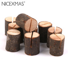 10pcs Wooden Wedding Name Place Card Holders Home Decor(China)