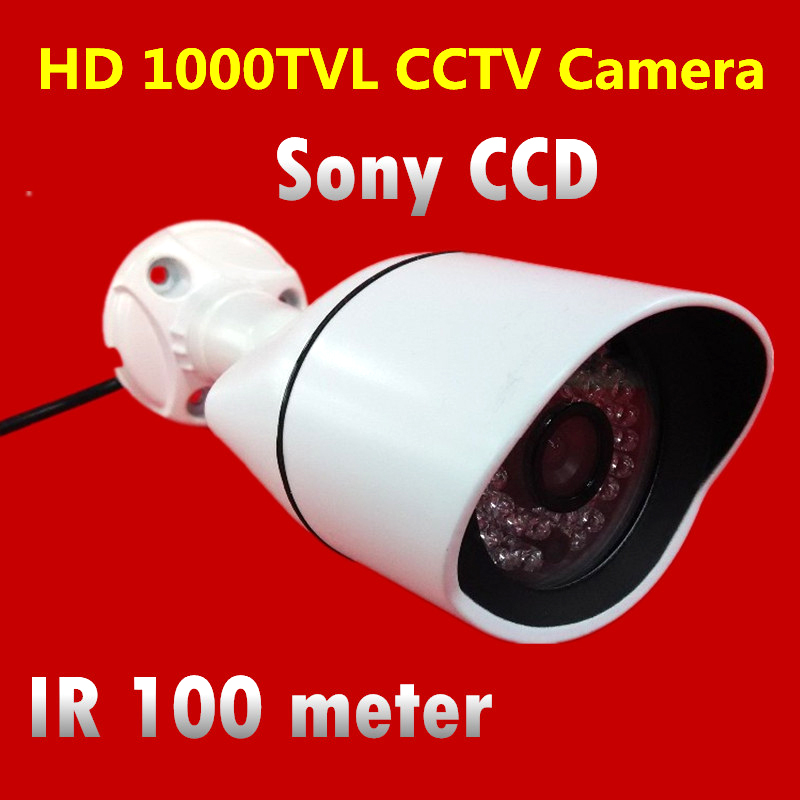 1/3 Sony CCD 1000TVL HD IR 100 meter Waterproof Outdoor Security Camera Surveillance CCTV Camera High Quality<br>