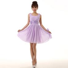 robe de mariee size short cheap spaghetti strap knee length bridesmaid dress lavender bridemaids 2017 dresses for weddings S2698