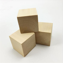 PINJEAS 15pc/lot Unfinished Wood Blocks - 1.6 inches Wooden Block Cube carving block  DIY Crafts
