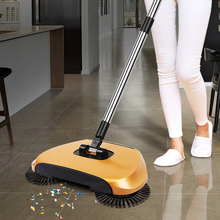Sweeping Robot Vacuum Cleaner without Electricity Household Hand Push Broom, Dustpan and Trash Bin 3 in 1