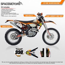 3M Rockstar Vinyl graphics sticker background wrap FOR EXC SX SX-F W XC-W F FREERIDE ADV 250 450 426 03-18 year Motorcycle(China)