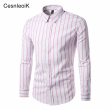 Plaid Shirts Men Red M-XXL Quality 2017 Hot Sale Dress Shirts Brand New Fashion Hip Hop Camisa Plus Size Casual Men Shirts CX10