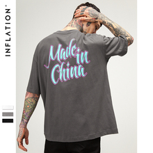 INFLATION 2018 Chinese Printed Short Tee Original Fashion Brand Clothing High Quality Cotton Casual High Street T-shirts 8267S(China)