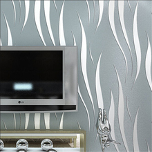 beibehang Modern Solid Curve Pattern Wallpaper 3D Mural Wall Decal Fresh Textile Non-woven Bedroom Wallpapers Sofa Wall Paper