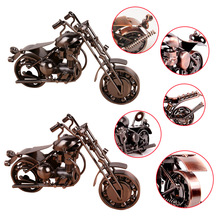 Home Decor Handmade Motorcycle Model Toys Metal Motorbike Model Toy For Men Gift(China)