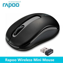 Original Rapoo 2.4G Mini Optical Wireless Mouse Reliable 1000DPI Mice with Nano USB Receiver for Computer Laptop Desktop Office(China)