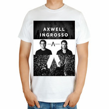 2 kinds Cool Fashion AXWELL INGROSSO Brand Singer DJ master White shirt print 3D Cotton T-shirt Music fitness(China)