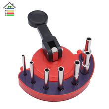 New Masonry Ceramic Tile Glass Hole Saw Guide Openings Locator +Sucker with 7pc 4 5 6 7 8 10 12mm Diamond Drill Bit Set(China)