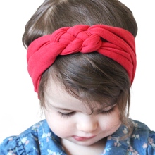 Cute Solid color Headband Knot Hair Bands Elasticity Hairbands 100% Cotton Headband Hair Accessories KT003(China)