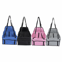 Folding Dog Car Carrying Bags Oxford Cat Puppy Pet Car Seat Carrier Safety Belt Cover Dog Accessories(Hong Kong)